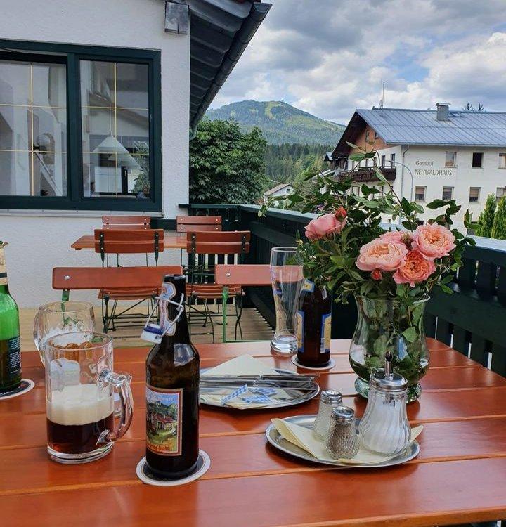 Hotel Das Waldkönig Terrasse