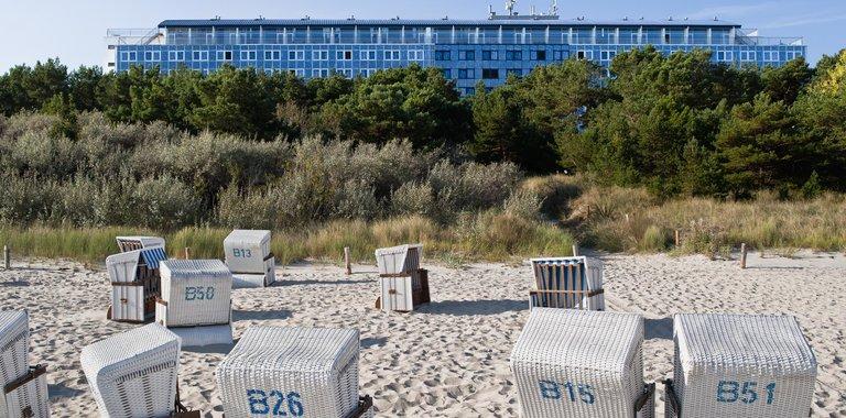 Komfort Sport- und Ferienhotel Baltic Ansicht vom Strand