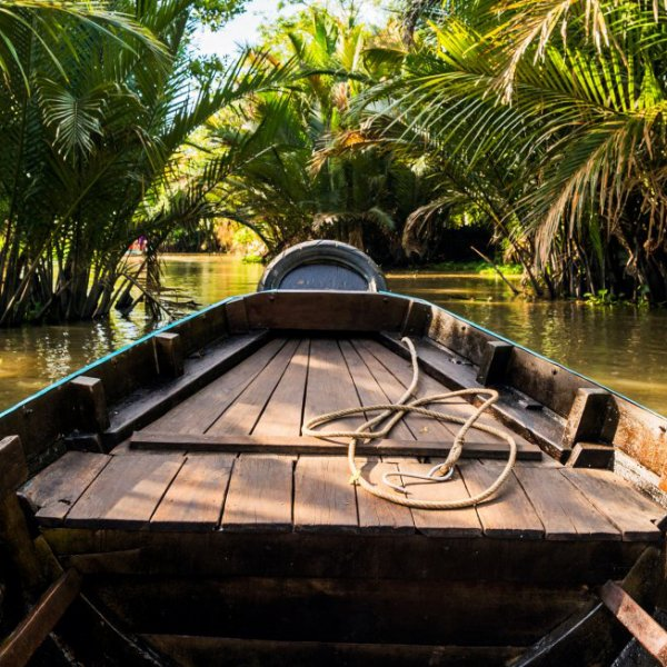 Landschaft des Mekong