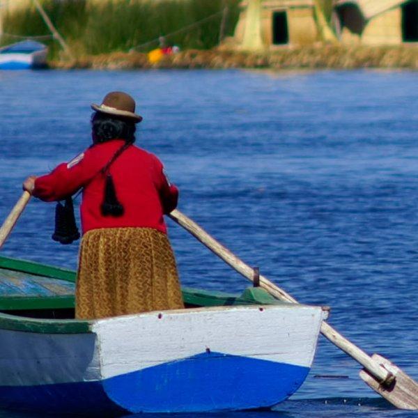 Boot auf dem Titicacasee