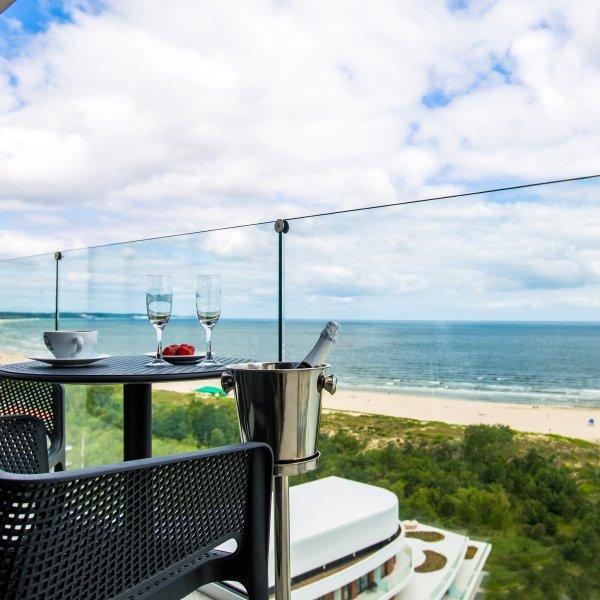 Blick auf die Ostsee vom Hotel