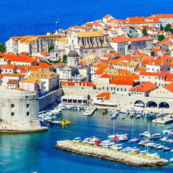 Kroatien Blick auf Dubrovnik