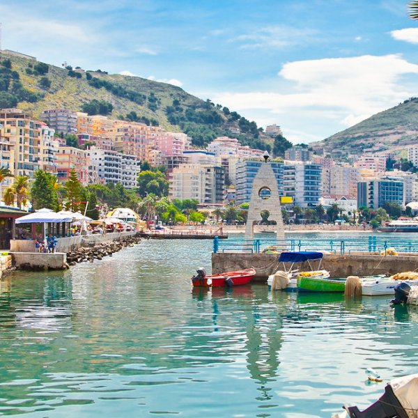 Albanien Saranda Port