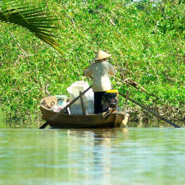 Bootsfahrt auf dem Mekong