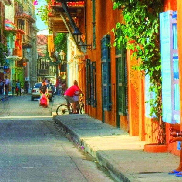 Strasse in Cartagena