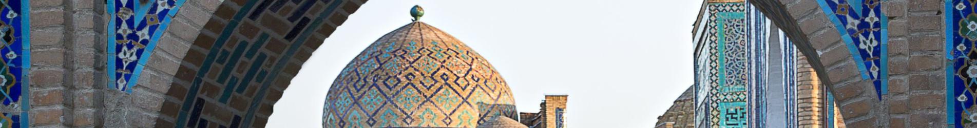 Historischer Friedhof Shahi Zinda in Samarkand